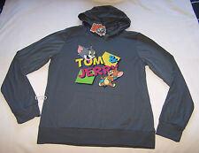 Tom & Jerry Ladies Grey Printed Hoodie Size XL New