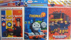 BBC 8 x Party Loot Gift Bags Postman Pat, Thomas the Tank Engine or Fireman Sam