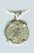 AD194 Romain Argent Denier Empereur Severus Prosperity Déesse Fortuna Emesa