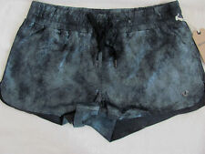 True Religion 100% Leather Running Shorts-Lined-Pewter/Black-Size Small-NWT $348