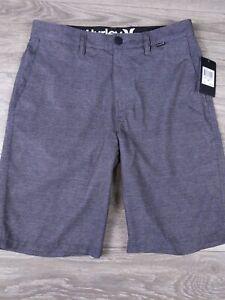 Hurley Benton Walk Shorts Board Casual Hybrid Men's 28 Gray New NWT