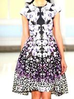 New NWT Temperley London Orchidea Floral Flare A Line Runway Dress UK 14 / US 10