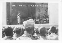 1945 WWII US GI's  Okinawa  Photo USO Show at 71st MCB