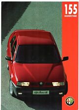 Alfa Romeo 155 1.8 TS Silverstone Limited Edition 1994 UK Market Sales Brochure