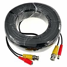 SANNCE 1pcs 60ft BNC Video Power Connector Cable Security Camera Extend Wire