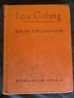 "1st Edition 1949 Book - ""Lou Gehrig   Boy Of The Sand Lots"" - NICE BASEBALL GIFT"