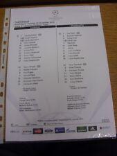 20/11/2012 COLORI teamsheet: JUVENTUS V Chelsea Champions League []. grazie per