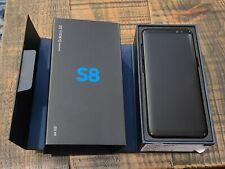 Samsung Galaxy S8 SM-G950U - 64GB - Midnight Black (Verizon) USED w/ Box & Cases