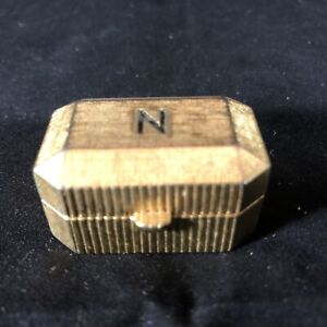 Vintage Norell Concentrated Perfume Metal Gold Tone Pill Box Pillbox EMPTY