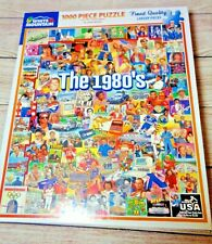 "White Mountain 1000 Piece Puzzle - ""The 1980's""; Puzzle # 868; Made USA"