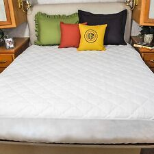"""Ultima Plush Quilted Bed Mattress Pad Cover Airstream 48""""x 78"""" Double Radius"""