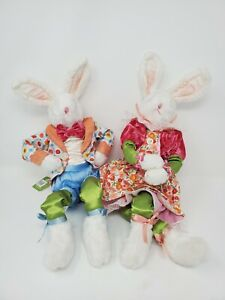 """18 """" Pose-able Easter Bunny Boy and Girl  New"""