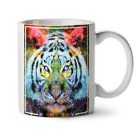 Tiger Urban Calm Animal NEW White Tea Coffee Mug 11 oz   Wellcoda