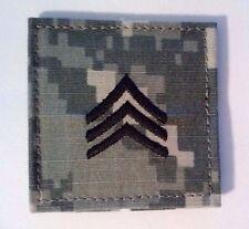 US Army ACU Rank E-5 Sergeant Patch W/Fastener Uniform Ready    Made in USA