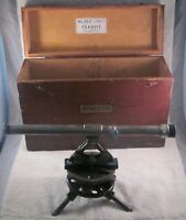 Vintage Starrett Surveyor's Transit 99-F Sight Level Scope w / Original Wood Box