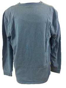 LL Bean mens t shirts size L Traditional Fit light blue long sleeve cotton