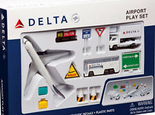 DELTA Air Lines Boeing 777 Airport GIOCATTOLI SET 12 PEZZI NUOVO b777 Daron rt4991