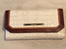 Brahmin Soft Checkbook Wallet Macaroon La Scala Tri-Texture