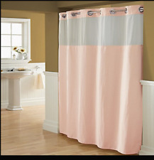 NEW Hookless waffle Shower Curtain with Peva Liner, Blush pink extra long