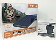 Intex Classic Downy Twin Air Mattress with Quick-Fill 12 Volt Electric Pump New