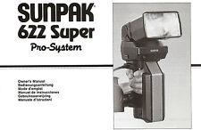 Sunpak 622 Super Pro System Owners Manual PDF CD