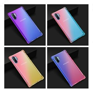 For Samsung Galaxy Note 10 S7 S8 Gradient Silicone Bumper Soft Back Case Cover