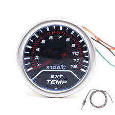 Universal 52MM Car Exhaust Gas Temp Temperature Gauge EGT Meter Thermo Sensor ℃