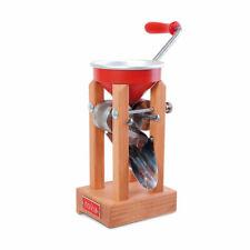 Eschenfelder Kornquetsche Tischmodell Alutrichter mit Zwinge Novia rot