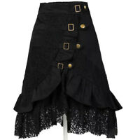 Women's Steampunk Clothing Party Club Wear Punk Gothic Retro Black Lace Skirt X1