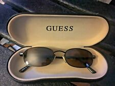 Guess Vintage Sunglasses GU 610 Extreme 50-17-135 MABR-1 Hard leather case NICE!