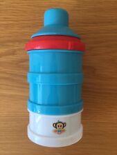 Milk Powder Formula Dispenser Twist-Lock Stackable Snack Container Blue