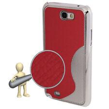 HardCase Rückschale Wave für Samsung N7100 Galaxy Note 2 in rot Hülle Cover