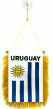 "Uruguay Mini Flag 4""x6"" Window Banner w/ suction cup"
