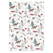 DANIELA DRESCHER*Weihnachten*Geschenkpapier 50 x 70cm*Weihnachtswald*