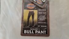New Dickies Girl Bull Pant Mid Rise Boot Cut Stretch Twill Junior Size 15