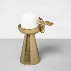 """OPALHOUSE 7.4"""" x 5.7"""" Metal Hummingbird Candle Holder  GOLD  ( I HAVE 2 AVAILABL"""