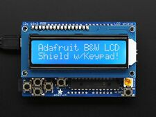 LCD Shield Kit w/ 16x2 Character Display - Only 2 pins used! - BLUE AND WHITE