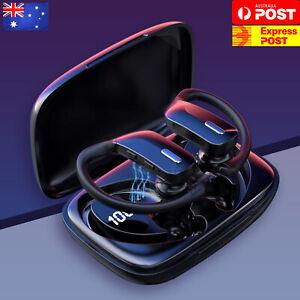 Sweatproof Wireless Bluetooth Earphones Headphones Sport Gym Earbuds with Mic