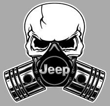 JEEP Pistons Skull Sticker