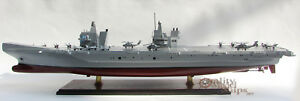 HMS Queen Elizabeth Aircraft Carrier (R08) Handcrafted Ship Model Display Ready