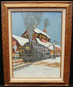 "H. Hargrove ""Bristol Train Station"" Giclée on Canvas Oil Painting Print B2994"