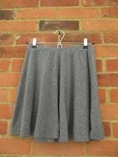 Topshop Grey Short Mini Flare Elasticated Waist Skirt, Size 10 Spring / Summer