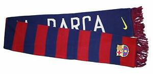 Nike FC Barcelona Supporters Scarf Bufanda Large Brand Embroidered Logos NEW