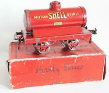 HORNBY O GAUGE( NO 1)  (SHELL MOTOR SPIRIT ) PETROL TANKER (BOXED)