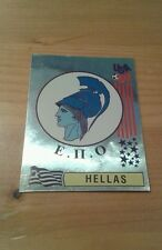 N°268 BADGE LOGO FOIL # HELLAS PANINI USA 94 WORLD CUP ORIGINAL 1994
