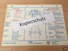 Ford Taunus P 5 - 17 M - 20 M - 20 M TS - FINA Schmier-und Wartungsplan