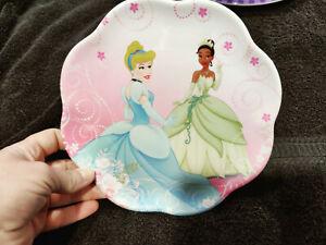Zak Designs Disney Princesses Plastic PLATE Cinderella, Melamine Princess & Frog