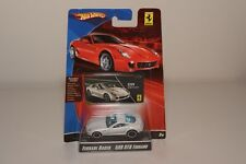 V 1:64 HOTWHEELS RACER FERRARI 599 GTB 599GTB FIORANO WHITE MINT ON CARD RARE