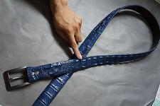 "48"" - 4CM WITHOUT JOINTED - GENUINE Blue ALLIGATOR Crocodile LEATHER  MEN'S BELT"