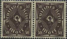 Duits Empire 231b, horizontaal Echtpaar postfris MNH 1922 Horn